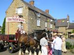 Image: Dray horses outside The Three Conies 2005